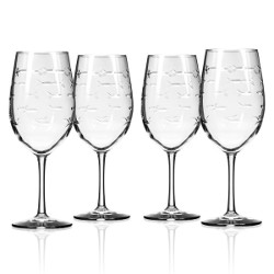 School Of Fish All Purpose Wine Glass (Set Of 4)