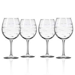 School of Fish Balloon Wine Glass 18 oz Set of 4
