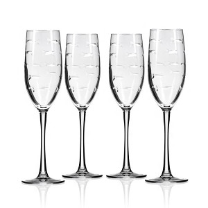 School of Fish Champagne Flutes (Set of 4)