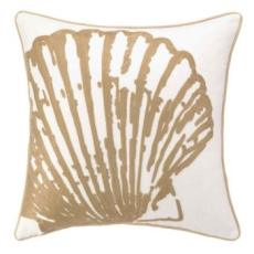 Scallop Shell Embroidered Pillow