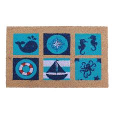 Sea Life Vinyl Back Door Mat