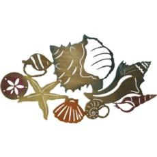 Sea Shell Metal Wall Art