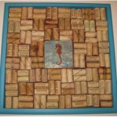 Seahorse Cork Board in Tropical Sea Finish