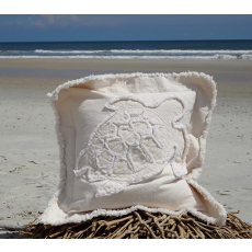 Sea Turtle Canvas Sea Pillow