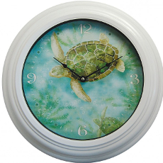 Sea Turtle Metal Clock