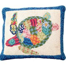 Patchwork Sea Turtle Pillow