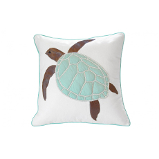 Seafoam Green Sea Turtle Pillow