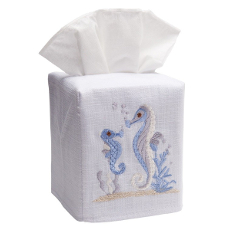 Seahorse & Baby Tissue Box Cover