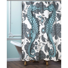Seahorse Vineyard Shower Curtain