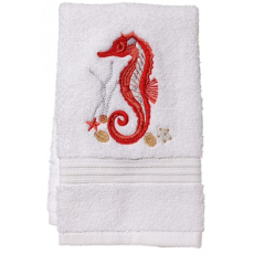 "Seahorse (Coral) Terry Towel 12""x19"""