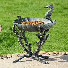 Seahorse Bird Bath / Birdfeeder