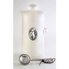 Seahorse Coffee Canister