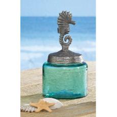 Sea Horse Glass Jar