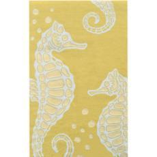 Seahorse Area Rug Yellow/White