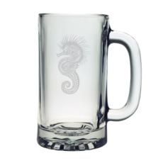 Seahorse Etched Sports Beer Mug Set