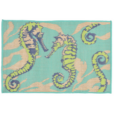 Seahorses Cool Indoor Outdoor Rug