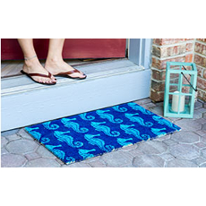 Seahorses Non Slip Coconut Fiber Doormat