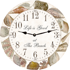 Seashell Collection Clock