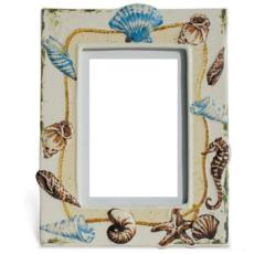 Seashell Picture Frame, Medium
