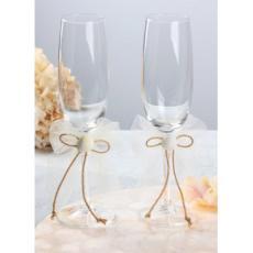 Seashore Champagne Flutes (set of 2)