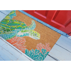 "Seaturtle Natural Outdoor Mat  24""X36"""