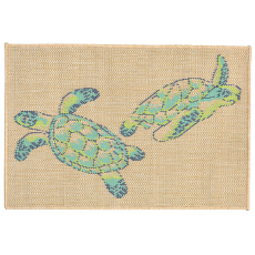 Sea Turtles Cool Indoor Outdoor Rug