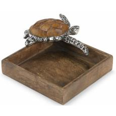 Sea Turtle Mango Napkin Holder /Tray