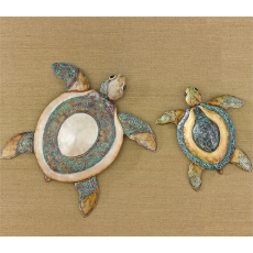 Sea Turtle Wall Decor Set of 2