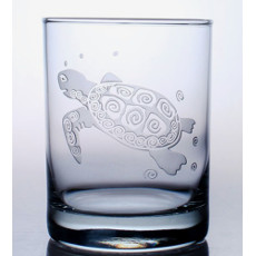 Sea Turtle Double Old Fashion Set Of 4