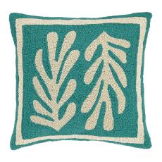 Seaweed Turquoise Hook Pillow