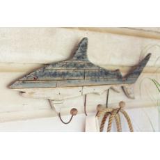 Wooden Shark Coat Rack