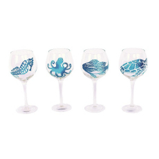 Shatterproof Sea Life Icon Wine Glass (set of 4)