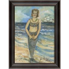 She was The Star Fish Mermaid Framed Art