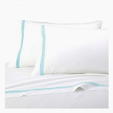 Trina Turk Palm Spring Block Sheet Set, Turquoise