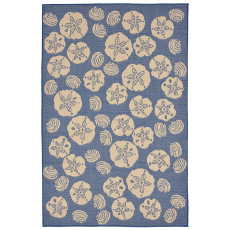 Terrace Shell Toss Marine Indoor Outdoor Rug