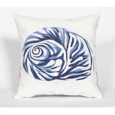Shell Blue Indoor Outdoor Pillow