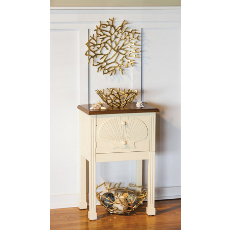 Embossed Scallop Shell Side Table