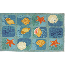 Shell Tile Indoor Outdoor Rug in 5 Sizes