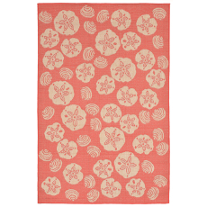 Terrace Shell Toss Coral Indoor Outdoor Rug