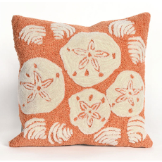 Shell Toss Coral Indoor Outdoor Pillow