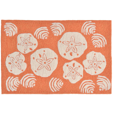 Shell Toss Coral Indoor Outdoor Rug