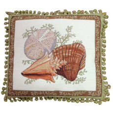 Shell I Petit Point Pillow