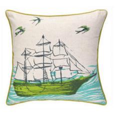 Ocean/Anchors Printed Pillow