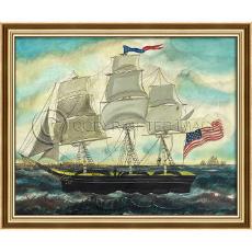 Stars and Stripes Forever - Ship Framed Ship Art