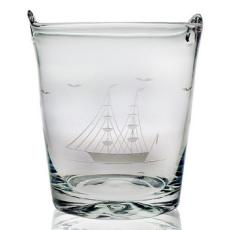 Clipper Ship Etched Ice Bucket