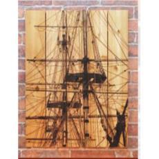 Tall Ship Wood Art