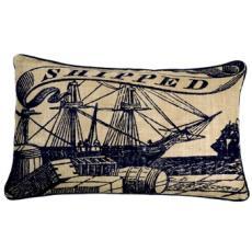 Seafarer Shipped Jute Pillow