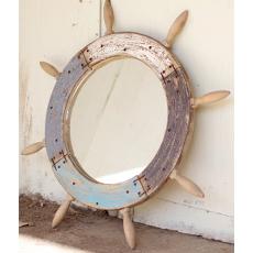 Ship's Wheel Mirror