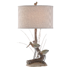 Shore Birds Nature Table Lamp with Ting