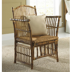 Coastal Bamboo Tortoise Side Chair